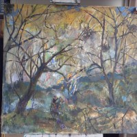 Kiss Forest King, 100 cm x 100 cm, oil on canvas