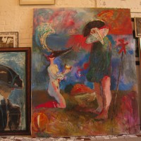 Carnival, 200 cm x 200 cm, oil on canvas