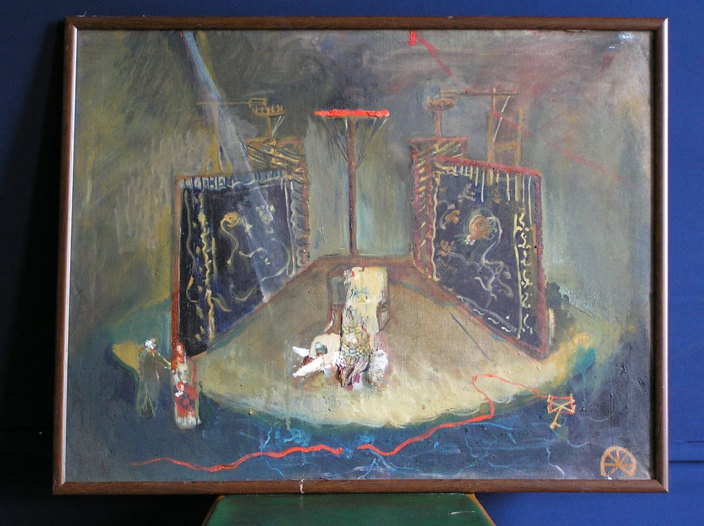 Set for Unlucky, 60 cm x 90 cm, oil on canvas