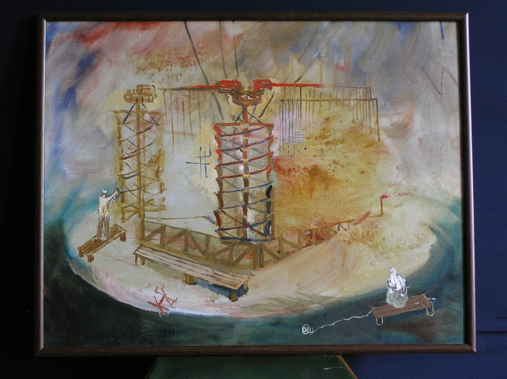 Set for Unlucky # 3, 60 cm x 90 cm, oil on canvas