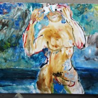 Love of Hermaphrodite, 80 cm x 120 cm, oil on canvas