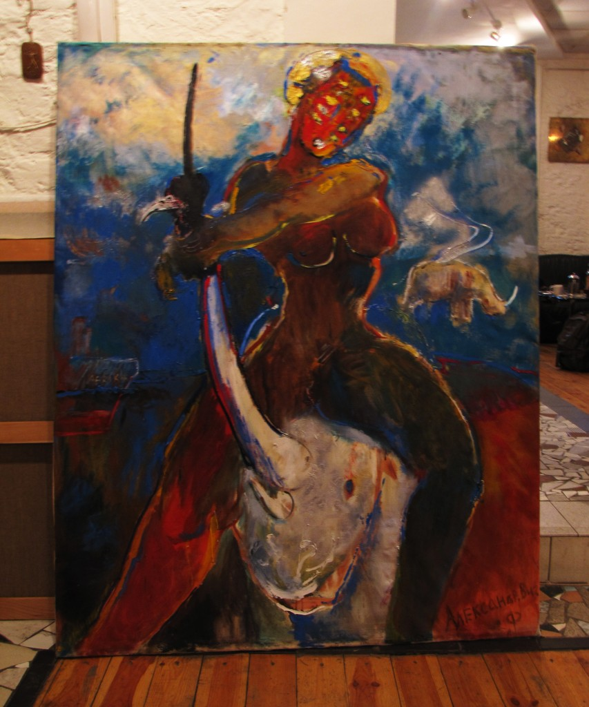 Afrika, 2010, 160 cm x 130 cm, oil on canvas