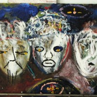 Three Wise Men, 60 cm x 86 cm, oil on canvas, SOLD