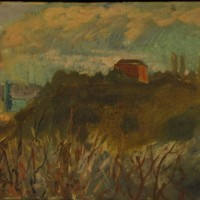 Landscape with House # 2, 40 cm x 30 cm, oil on canvas