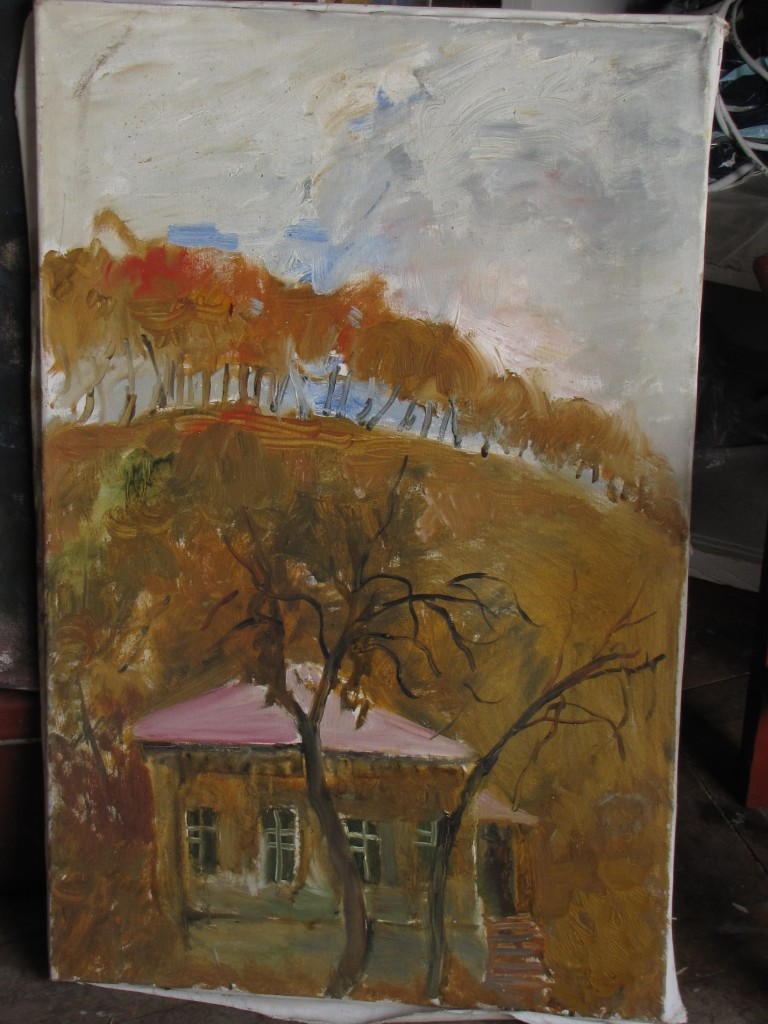Landscape with House, 70 cm x 45 cm, oil on canvas
